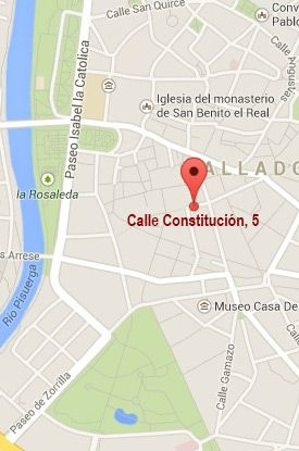 Ézaro Legal Valladolid - Localización